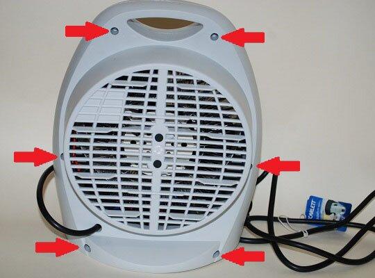 схемы тепловентилятора для