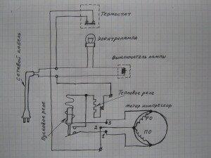 Wiring Kühlschrankkompressor